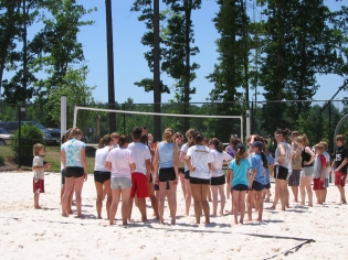 First junior beach clinic, 2006