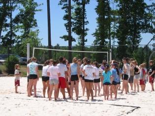 First junior beach clinic, 2006